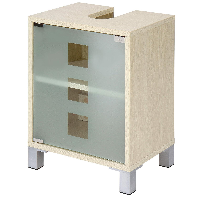 Brilliant Waschbeckenunterschrank Stehend Dekoration Von Aquamarin® Mit Zwei Einlegeböden Waschbeckenschrank Unterschrank In