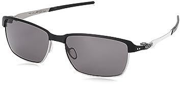 Oakley Herren Tinfoil Rechteckig Sonnenbrille, Schwarz (Matte Black/Warm Grey (S3))