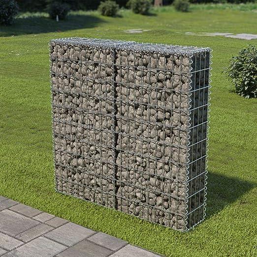 Muro de gaviones con Cubiertas Acero galvanizado 100x20x100 cmCasa ...