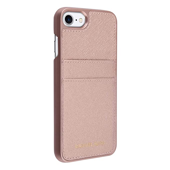 542b763d78d Amazon.com: Michael Kors Saffiano Leather Pocket for Apple iPhone 7 4.7 -  Ballet: Cell Phones & Accessories