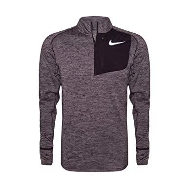 wholesale dealer b94a6 8b426 Nike Therma Sphere Element Men s Long Sleeve Half-Zip Running Top Black at  Amazon Men s Clothing store