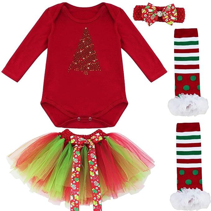 iiniim Traje Infantil de Navidad Ceremonia Vestido de Princesa Fiesta para Bebé Niña Pelele de Algodón de Invierno Otoño: Amazon.es: Ropa y accesorios