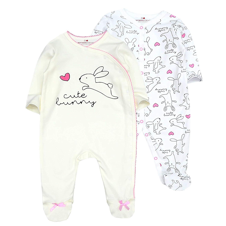 MOTHER /& CHILD ARTICLES Strampelanzug-Set Baby M/ädchen Wei/ß