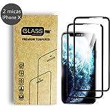Simonetta Vespetti Paquete de 2 Micas de Vidrio Cristal Templado para iPhone X Que Protege de Golpes y Rayones con Borde…