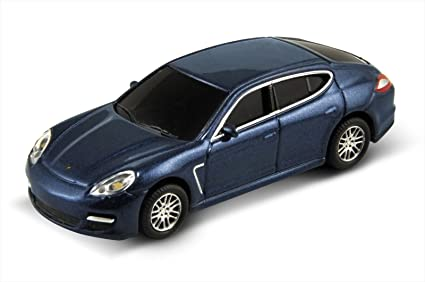 1:72 Die Cast Metal Porsche Panamera Turbo USB Flash Drive 8GB (Blue)