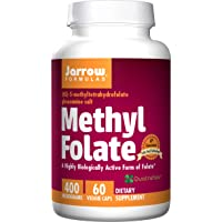 Jarrow Formulas Methyl Folate 5-MTHF, Supports Brain, Memory, Cardiovascular Health...