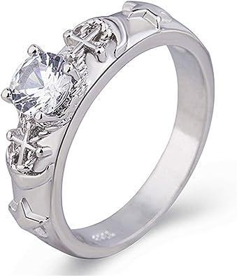 Amazon | 人気の宝石925セイコーダイヤモンドペンタグラムリング ...