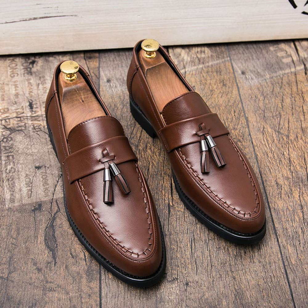 AKJC Herren Businessschuhe braun Business Men's schuhe schuhe Men's Leather Elegant Formal Dress Flat schuhe Designer Office schuhe Oxford schuhe Men 4721c1