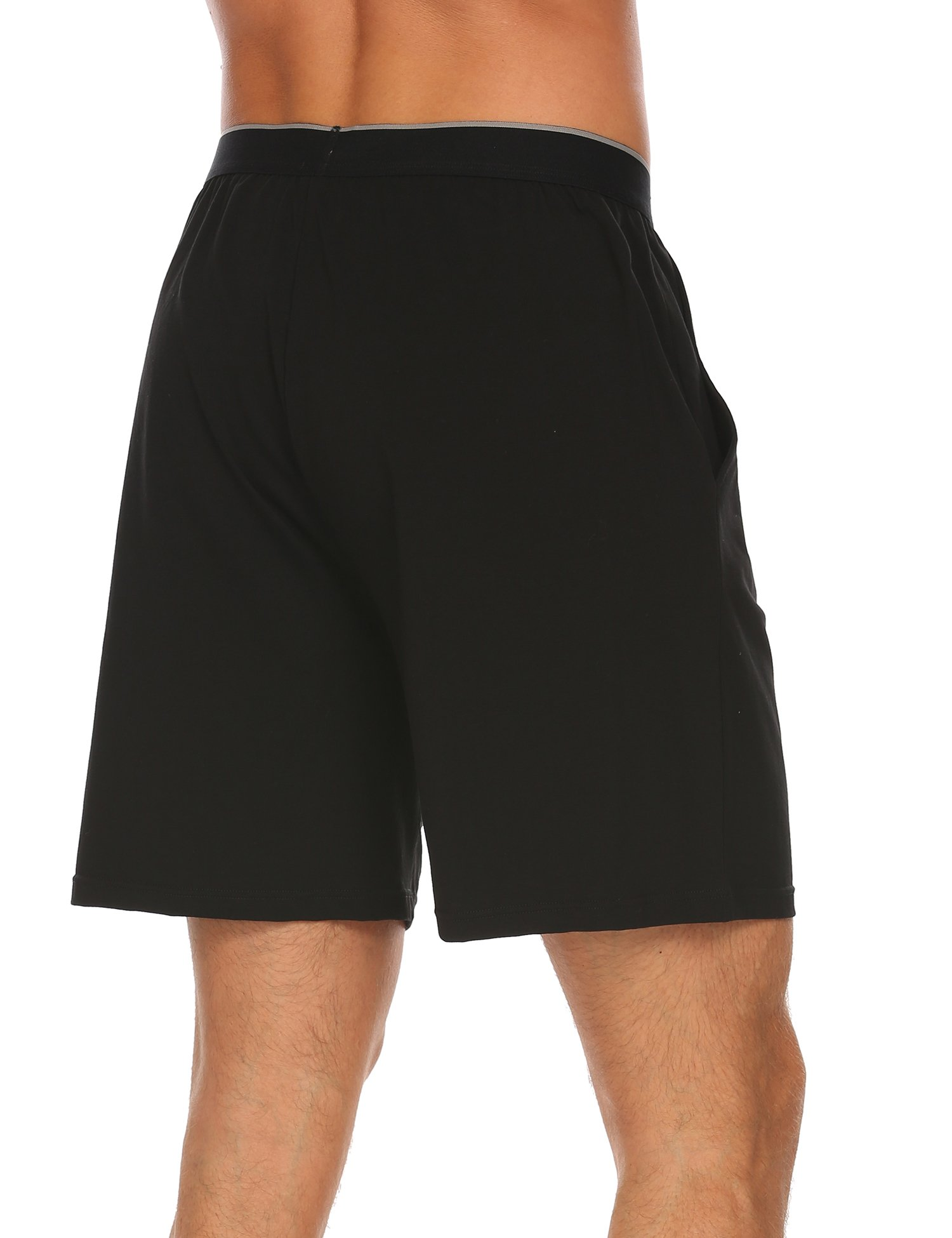 Ekouaer Men's Soft Comfort Loose Gym Pajama Bottoms Sleep Lounge Casual Shorts