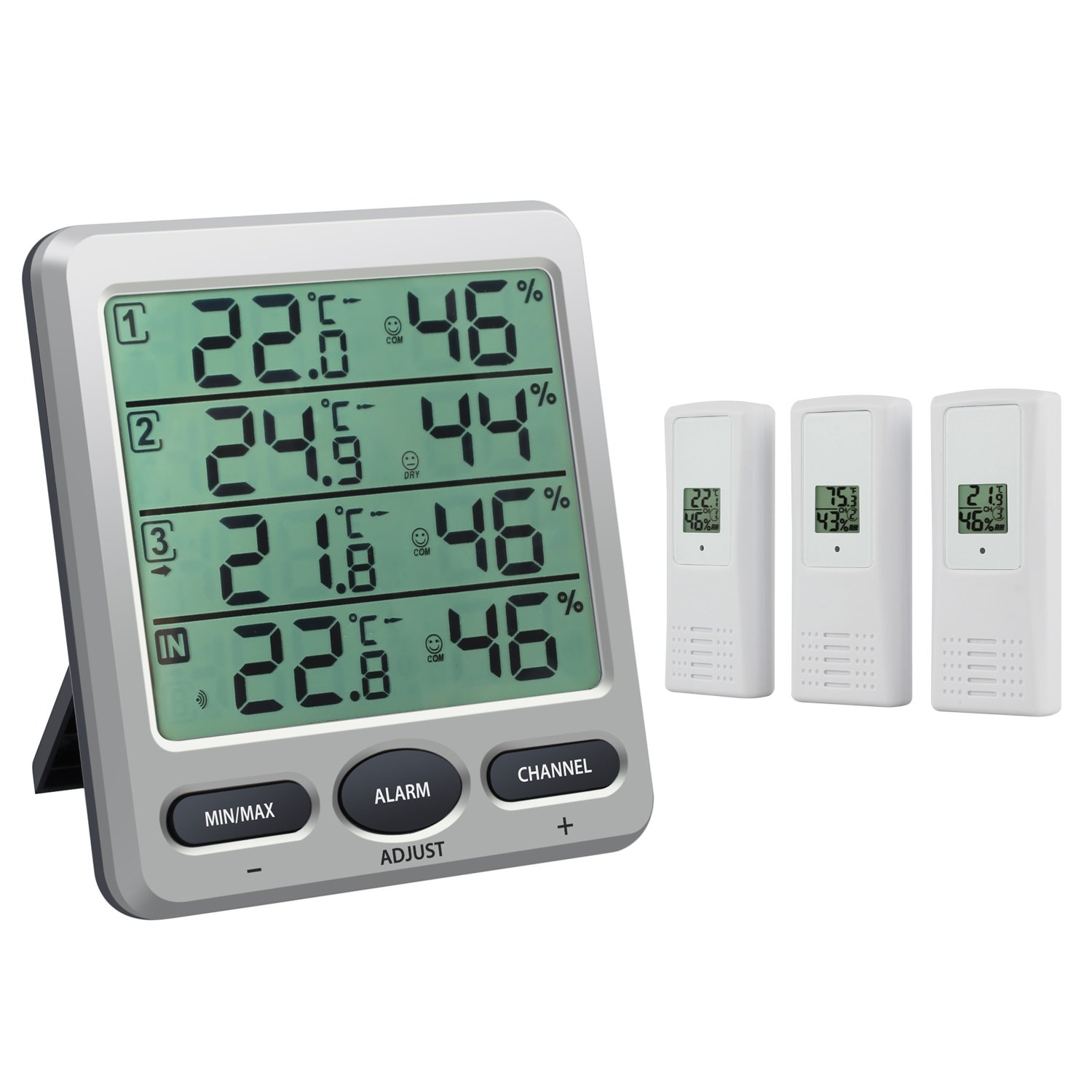 Lcd Wireless Electronic Clock Thermometer Digital Desktop Table Clock Outdoor Indoor Temperature Measure With High Resolution Measurement & Analysis Instruments Temperature Instruments