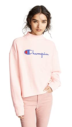 f0915dd05 Champion Premium Reverse Weave Women's High Neck Sweatshirt, Pink, Large