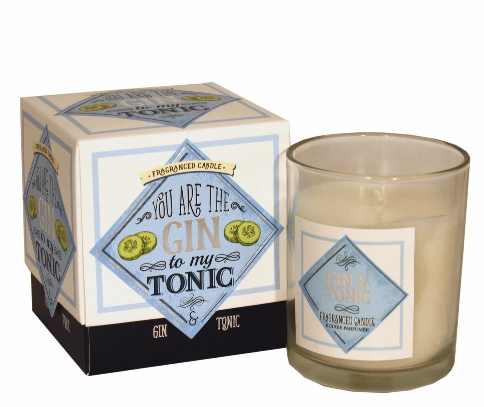 """Gin & Tonic Fragranced Candle- Boxed """"You Are The Gin To My Tonic"""""""