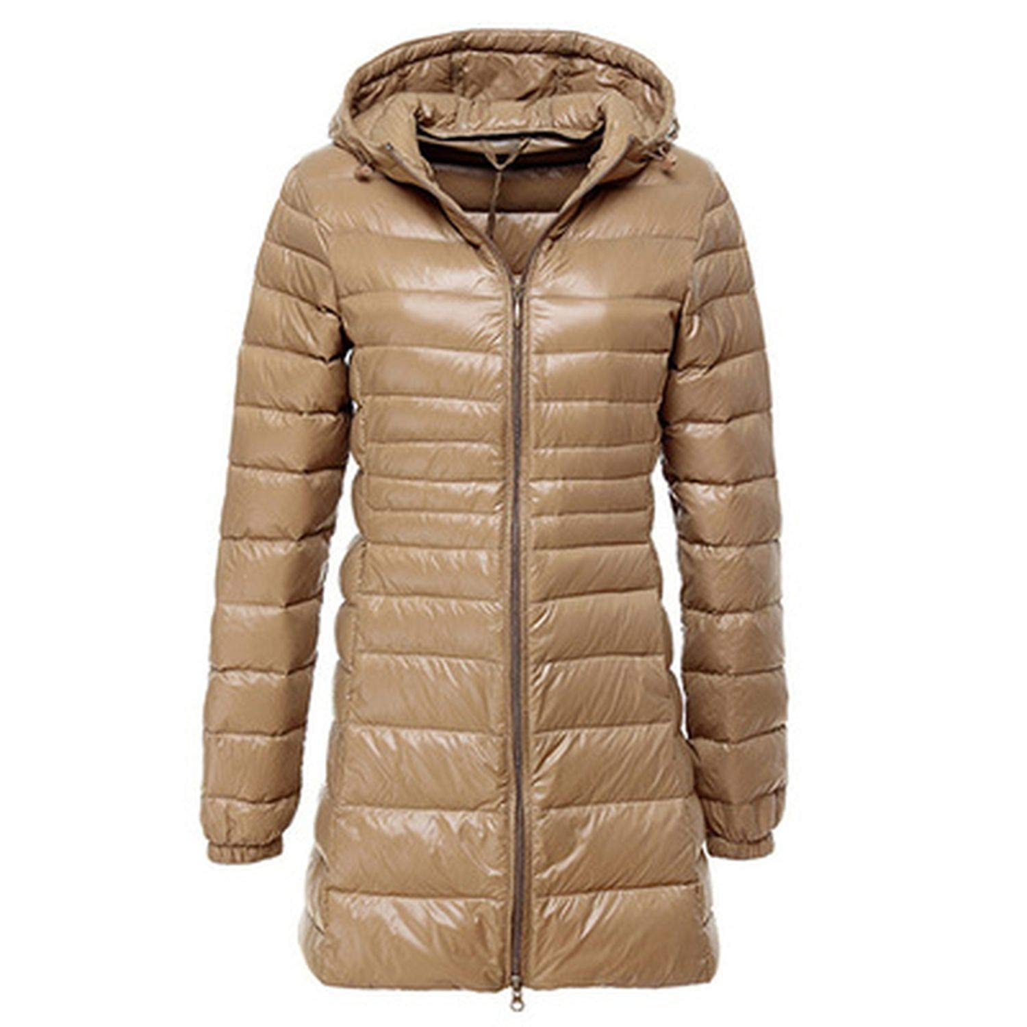 Champagnec The small cat Brand 6XL 7XL Plus Long Down Jacket Women Winter Ultra Light Down Jacket Women with a Hood Down Coat