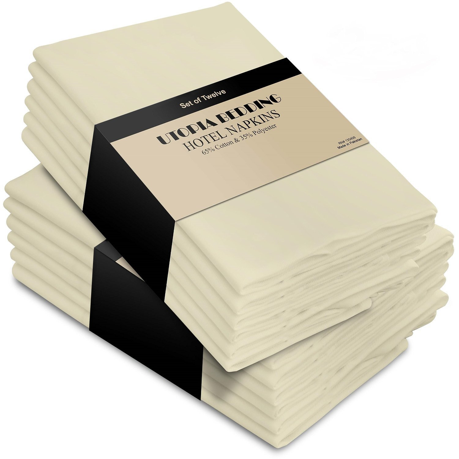 Ivory Cotton Dinner Napkins Set of 12