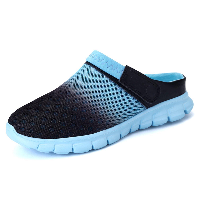 Garden Shoes Mens Womens Clogs Summer Mesh Sandals Outdoor Unisex Water Shoes Blue-38