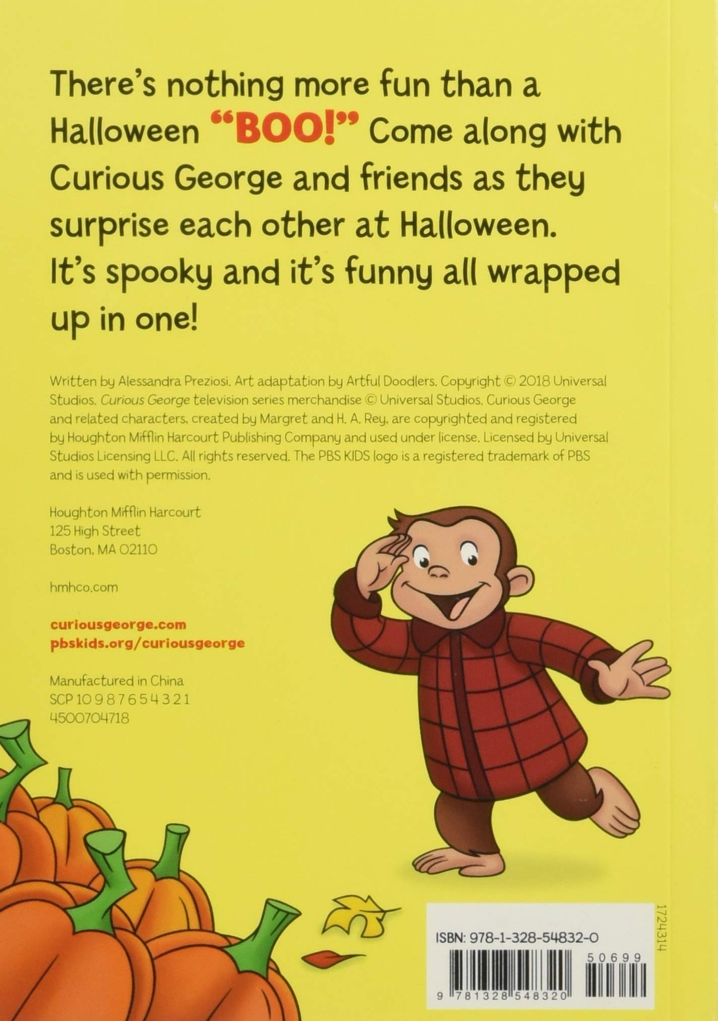 Curious George A Halloween Boo Fest H A Rey 9781328548320