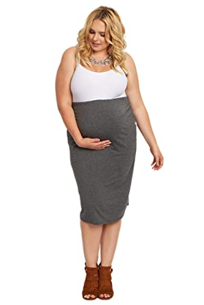 470172af806 PinkBlush Maternity Fitted Plus Size Pencil Skirt at Amazon Women s ...