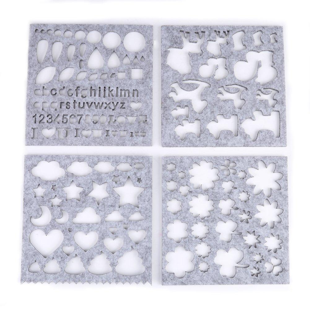 7 unids / set Apliques de BRICOLAJE Moldes Aguja de Fieltro Apliques Molde de Fieltro Plantillas Principiante Herramienta de Arte: Amazon.es: Hogar