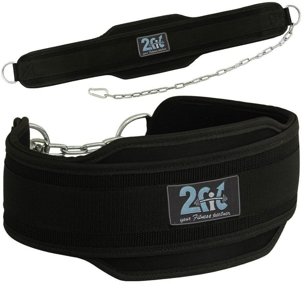 2Fit Weight Lifting Belt, Neoprene Belt Exercise Belt Heavy Chain