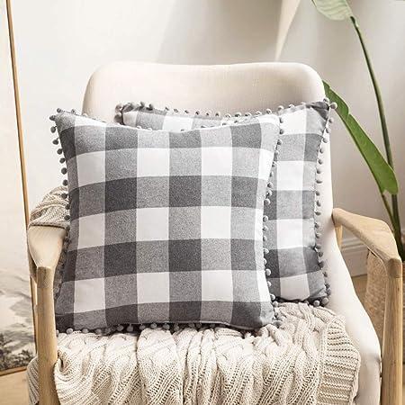 Amazon.com: MIULEE - Juego de 2 fundas de almohada con ...