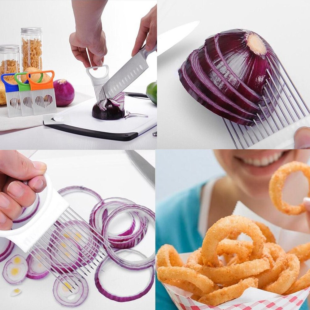 """15 Blades Durable Stainless Steel Needle Professional Kitchen Cooking Tool 4.4/"""" by 3.1/""""Best For Tenderizing,BBQ,Marinade /& Flavor Maximizer Meat Tenderizer Tool 2-Pack Onion Fork Holder"""