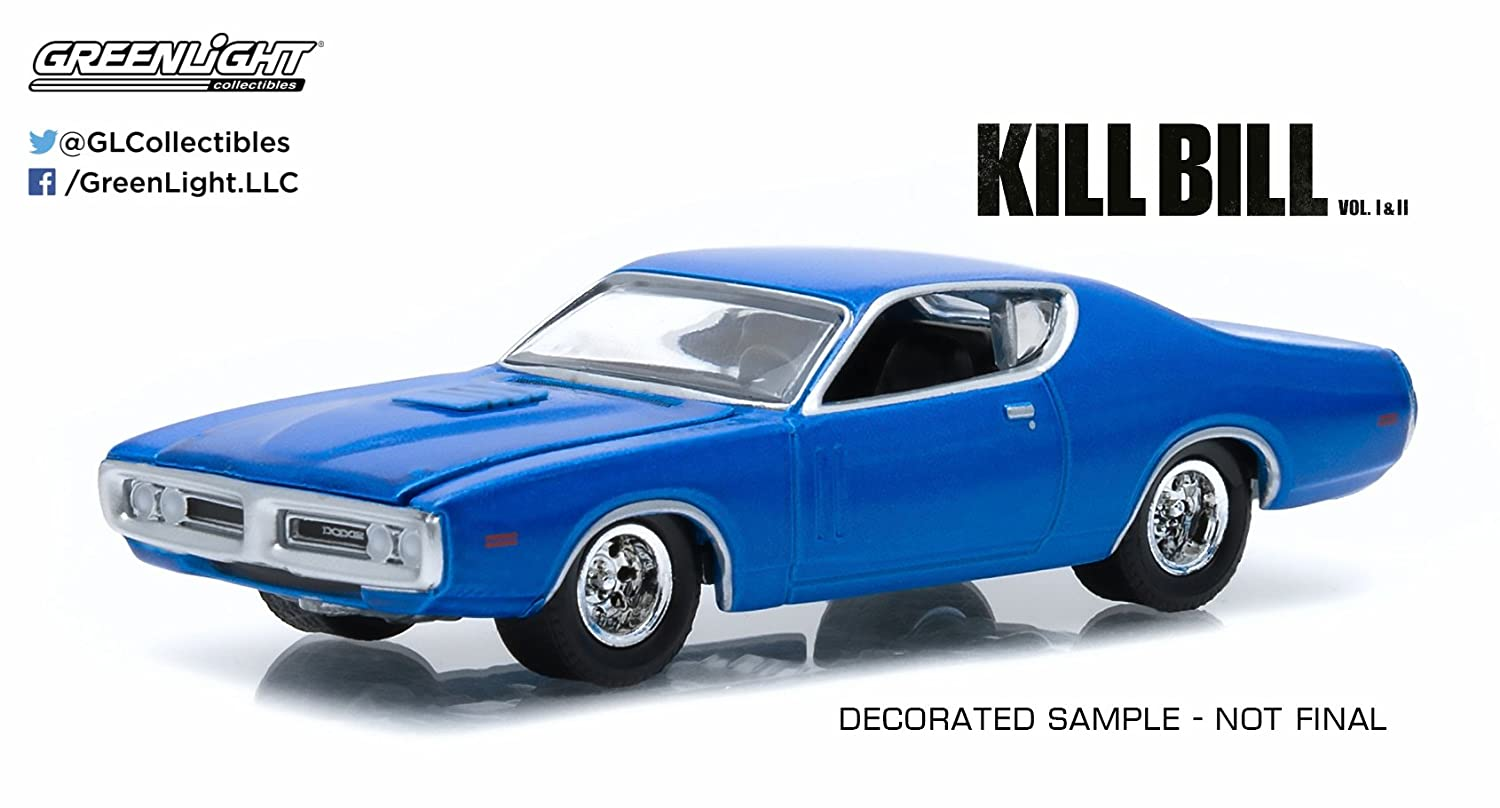 KILL BILL Modello Auto 1971 DODGE CHARGER Scala 1:64 GREENLIGHT Collectibles