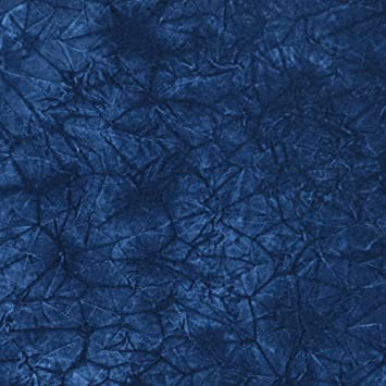 C869 Blue Classic Soft Crushed Durable Velvet Upholstery Fabric By The Yard
