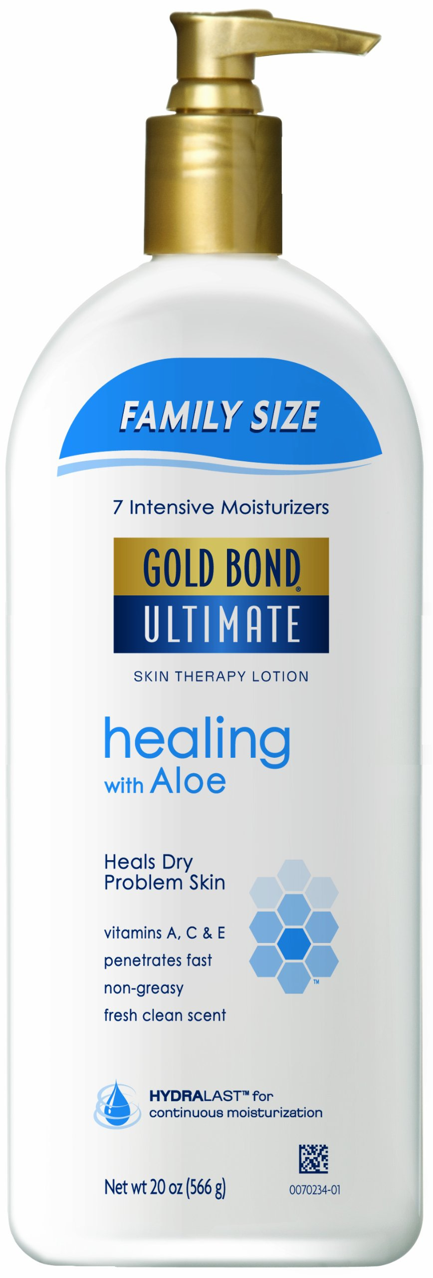 Gold Bond Ultimate Healing Skin Therapy Lotion Family Size, Aloe, 20 Ounce