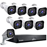 TOGUARD 8CH 1080P Security Camera System Home Outdoor Lite Wired DVR Security Surveillance Cameras IP66 Weatherproof…