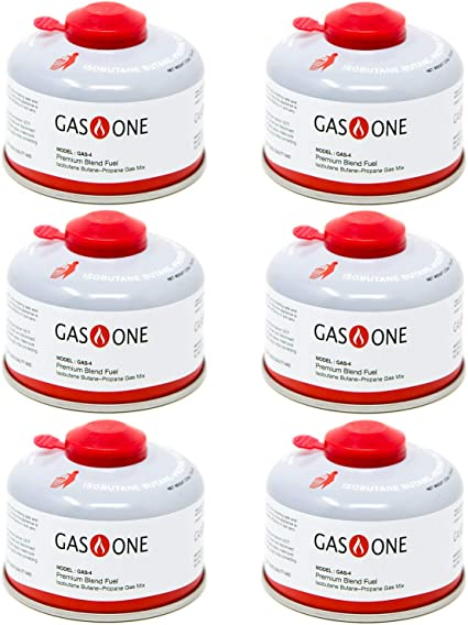 Amazon Com Gasone Camping Fuel Blend Isobutane Fuel Canister 100gram 6 Pack Sports Outdoors