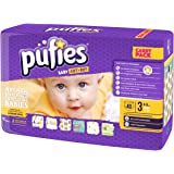 Pufies Baby Art Dry Neutral Bees - 40 Pañales, talla 3, 4-9