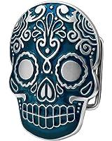Buckle Rage Adult Unisex Mexican Katrina Dia De Muertos Skull Belt Buckle Blue