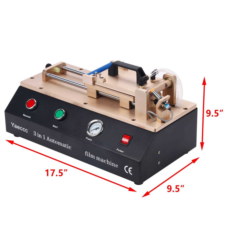 Amazon.com: 3 in 1 Laminating Machine Built in Vacuum Pump and Compressor Automatic Laminating Machine 7 inch Screen Laminating Machine Compatible with ...