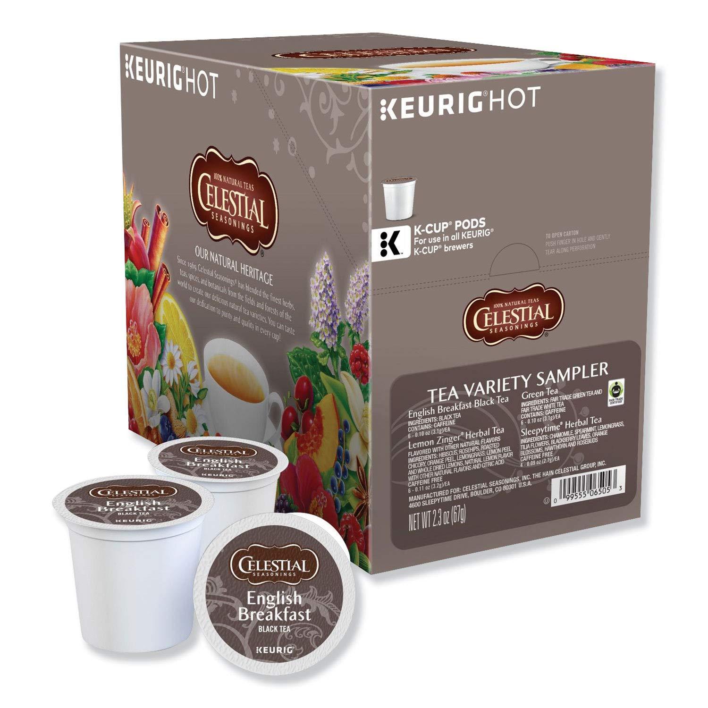 Celestial Seasonings Tea Sampler Keurig Single-Serve K-Cup Pods Variety Pack, 22 Count