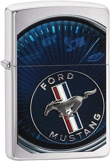 Zippo Ford Mustang Mechero de Gasolina, latón, Acero, 1 x 6 x 6 cm: Amazon.es: Hogar