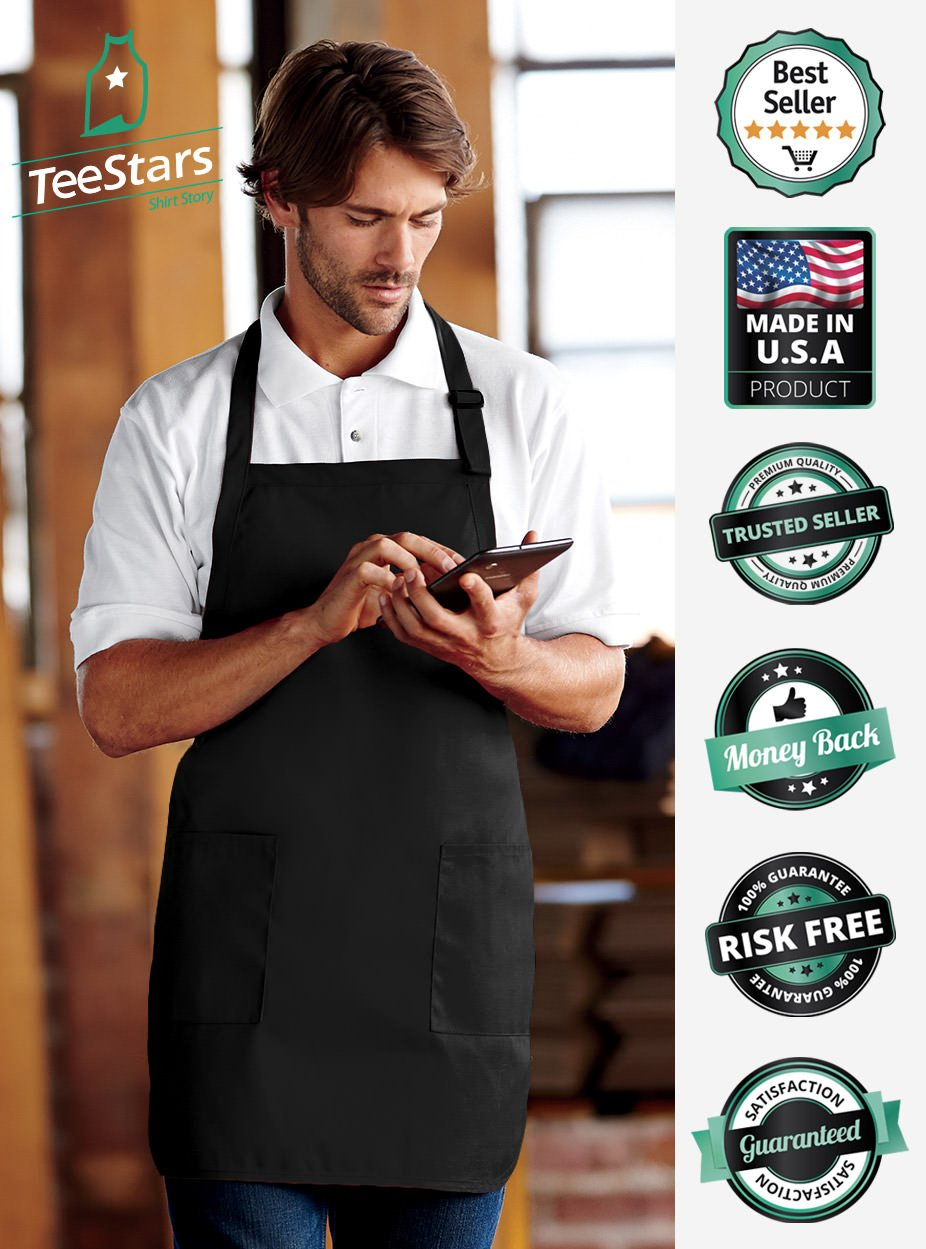 Grill Master The Man The Myth The Legend Griller Gift Idea Funny BBQ Chef Apron One Size Black by TeeStars (Image #4)