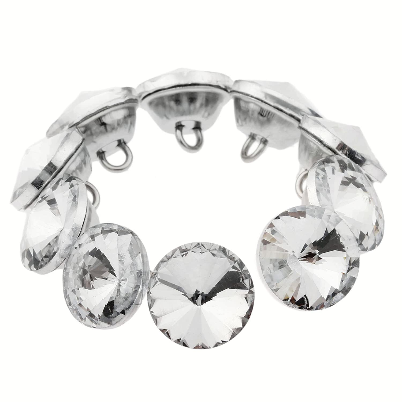 20pcs Diamond Crystal Upholstery Sofa Headboard Sew Buttons Wall Decor 18mm Dia