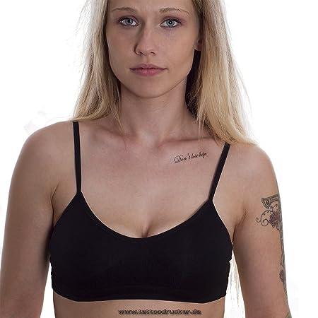 Believe In Yourself & DON T lose Hope – texto una vez Tattoo en ...