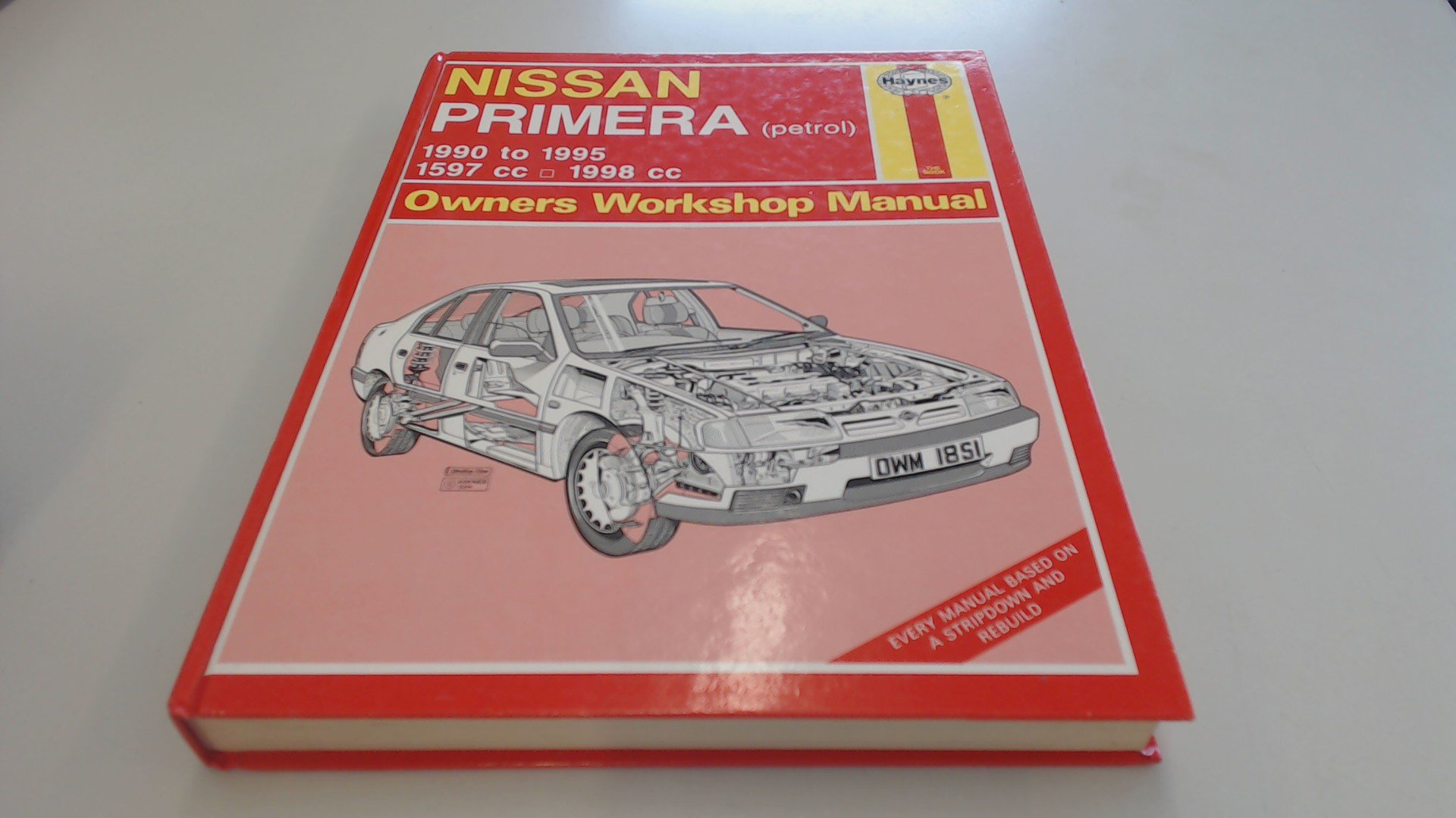 Nissan Primera (Petrol) Owners Workshop Manual (Haynes Owners Workshop  Manuals): Mark Coombs, Steve Rendle: 9781850108511: Amazon.com: Books