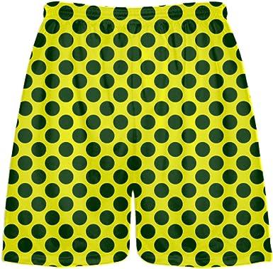 Mens Lacrosse Short LightningWear Red Teal Green Polka Dot Shorts Boys Lacrosse Shorts