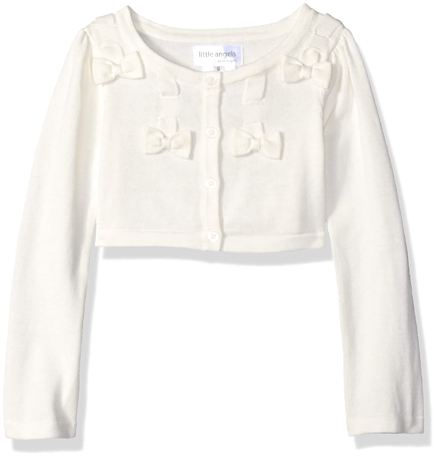 Little Angels Girls' Bow W/Scalloped Edge Cardigan LA-S934