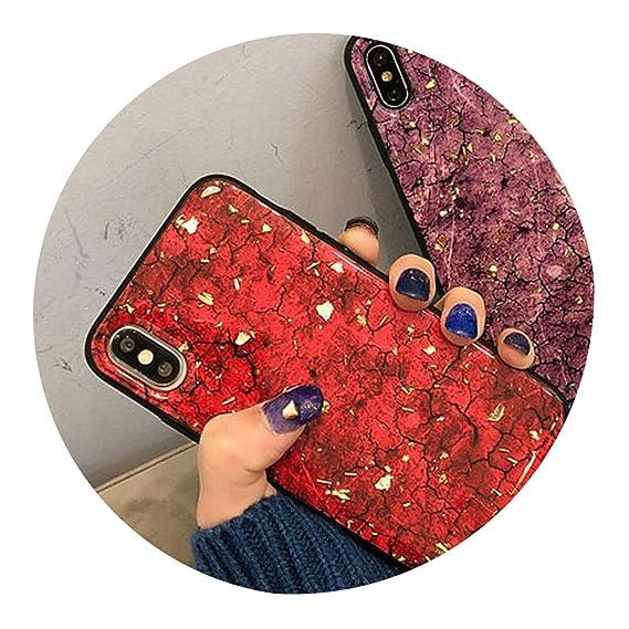 0ff5a90c6b9 Amazon.com: Diamond Marble Glitter Phone Case for iPhone X Xs Max Xr ...