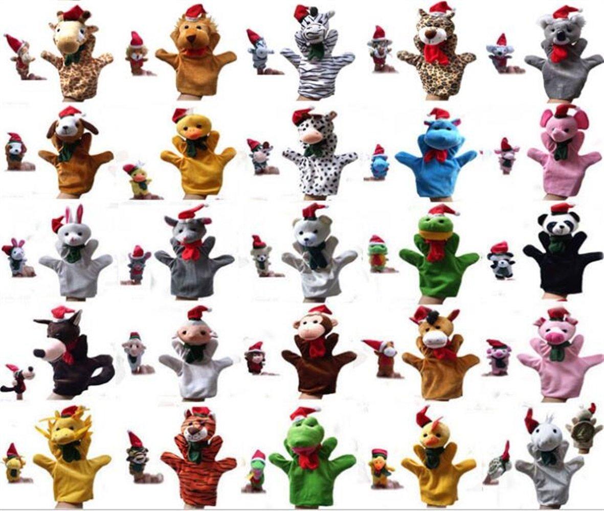 Grande Lupo EoamIk Burattini Marionetta di Mano Genitore-Figlio Marionetta di Dito Animale di Natale