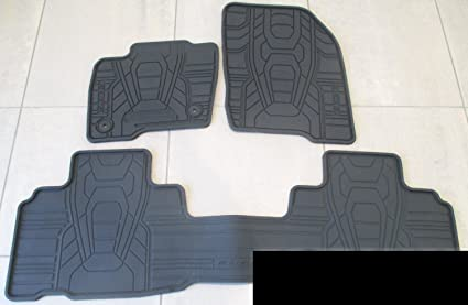 Oem Factory Stock   Ford Edge Black Ebony Rubber All Weather Floor Mats Set Front