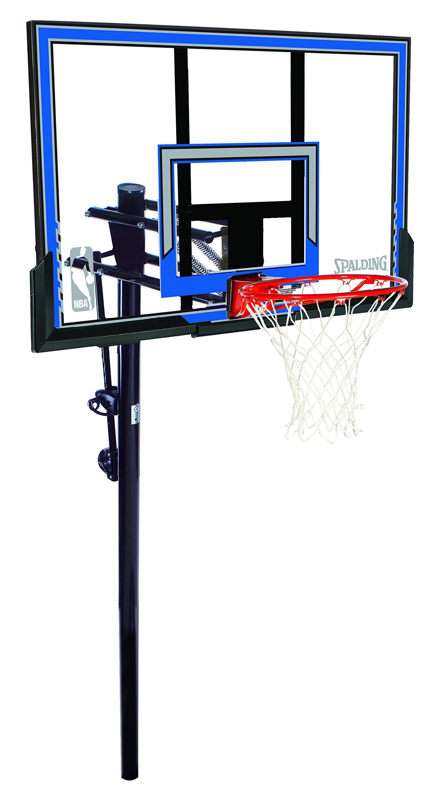 Spalding NBA In-Ground Basketball System - 50'' Polycarbonate Backboard