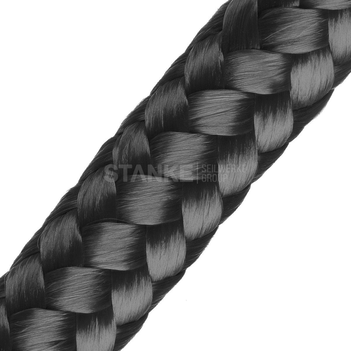 Seilwerk STANKE 15 m 8 mm corde en polypropyl/ène corde damarrage gr/éement corde noir
