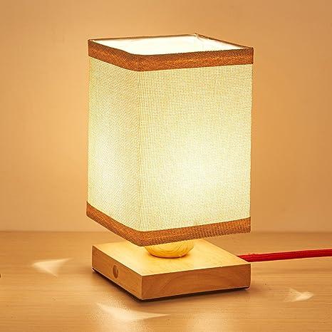 Yxx max *lampara Mesa Lámpara de Escritorio Simple de Madera ...