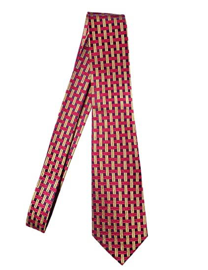 Towergem Extra Larga Corbata de seda XL Multicolor Plaid Hombre ...