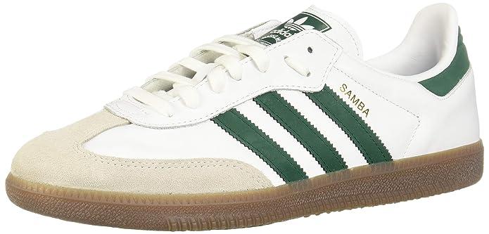 adidas Originals Samba OG Schuhe weiß mit grünen Streifen