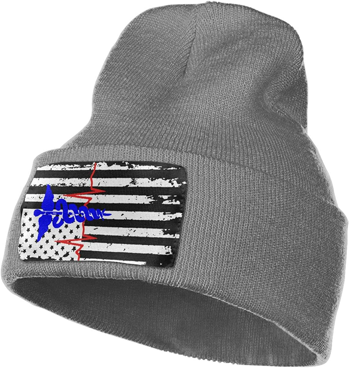 Z-YY Nurse American Flag Unisex Winter Knitting Woolen Hat Warm Cap